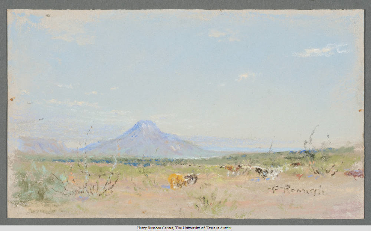 Margaret's Peak From the South, Frank Reaugh, 1860—1945. Pastel; 11 x 18 cm.