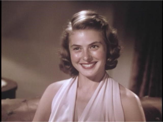Still from Ingrid Bergman's first screen test. David O. Selznick collection.