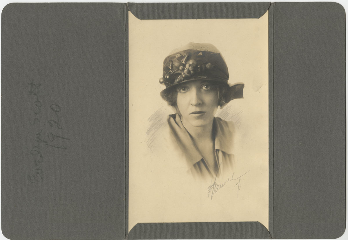 Evelyn Scott in the early 1920s. Image used with the permission of the Scott family.