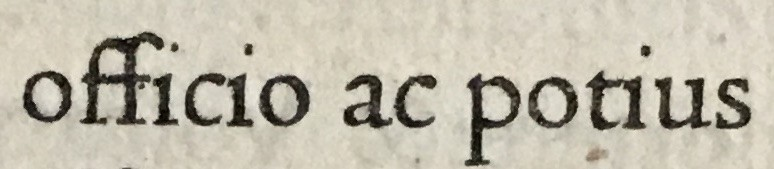Sample Roman letterforms from Jenson's 1471 Cicero, HRC call number: Incun 1471 c534