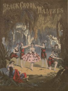 """Cover of sheet music for """"The Black Crook Waltzes,"""" 1867."""