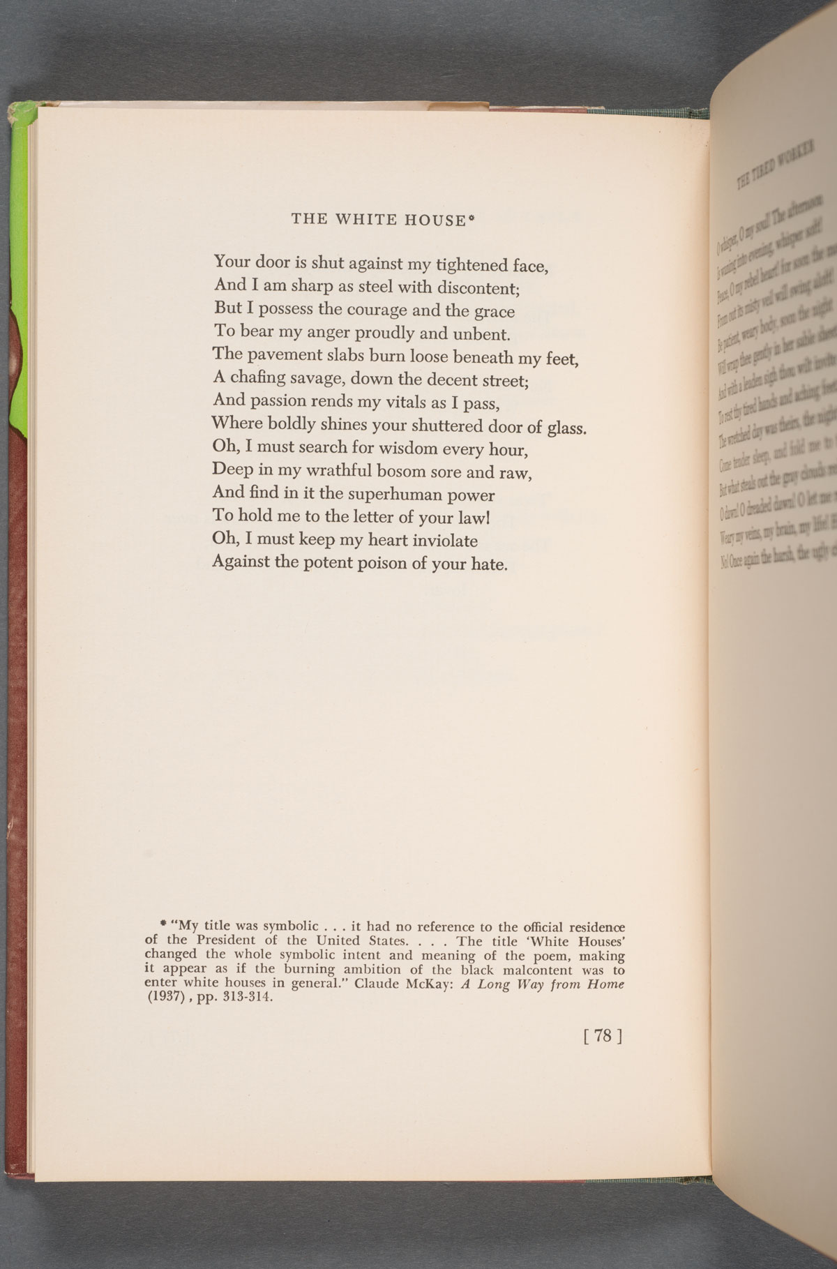 """Claude McKay and """"The White House"""""""