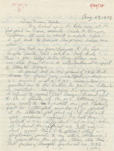 Jack Henry Abbott's letter to Norman Mailer of August 29, 1978. From the Norman Mailer papers, Harry Ransom Center.