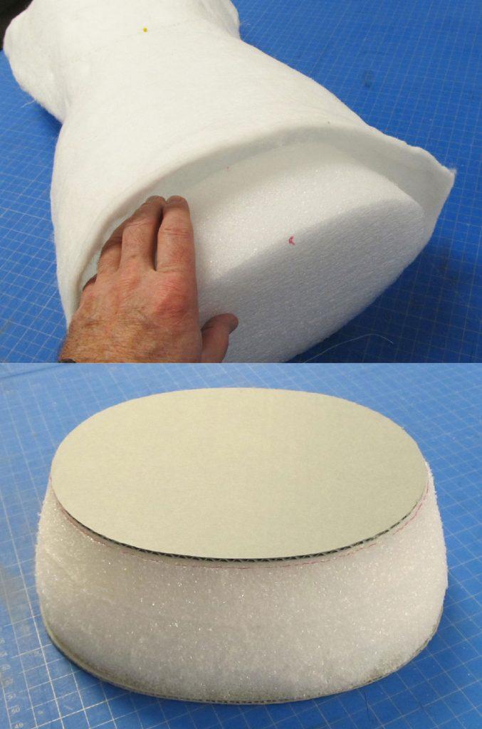 Creating precision cut Ethafoam interior supports