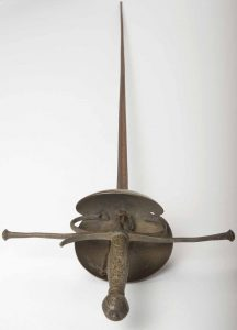 """Peter O'Toole's rapier from Laurence Olivier's """"Hamlet,"""" the debut production of the National Theatre, 1963."""