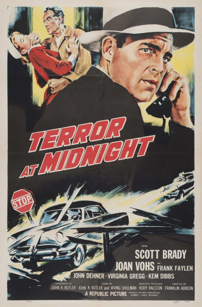Terror At Midnight, Date: 1956, size: 27x41 inches, from the Interstate Theater Collection