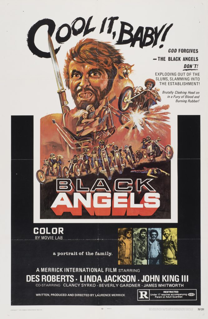 Black Angels, Date: 1970, size: 27x41 inches, from the Interstate Theater Collection