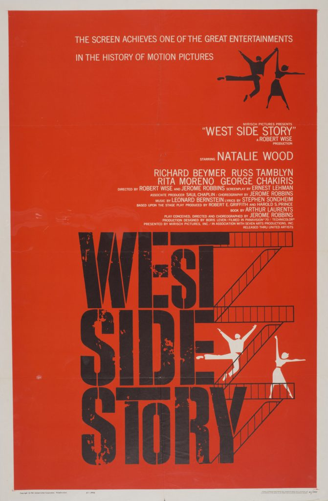 West Side Story, Date: 1961, size: 27x41 inches, from the Interstate Theater Collection