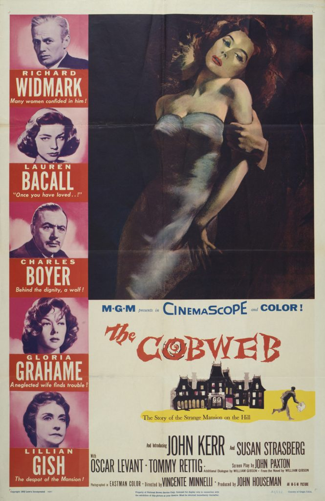 The Cobweb, Date: 1955, size: 27x41 inches, from the Interstate Theater Collection