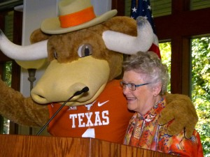 RFSA President Nancy Payne and Bevo