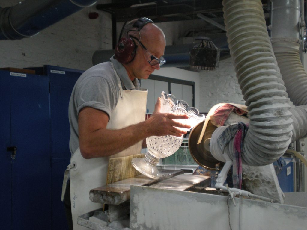 Cutting or grinding, Waterford Crystal