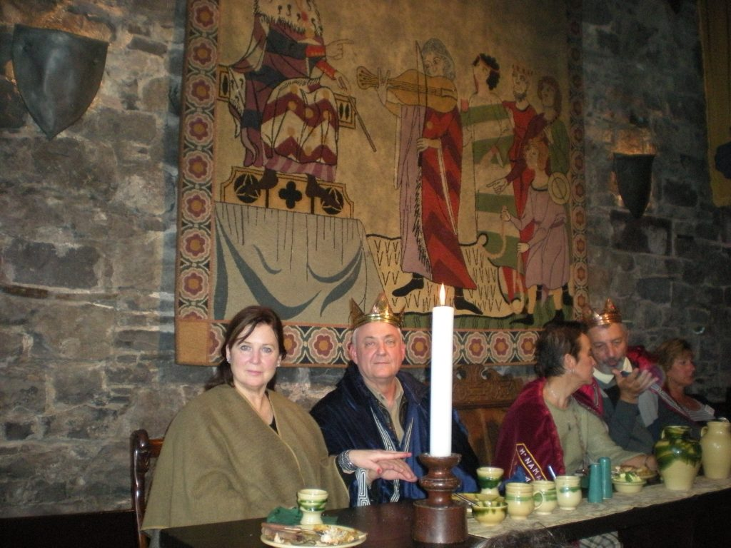 King and Queen Norm and Carmen Arn at Medieval Dinner