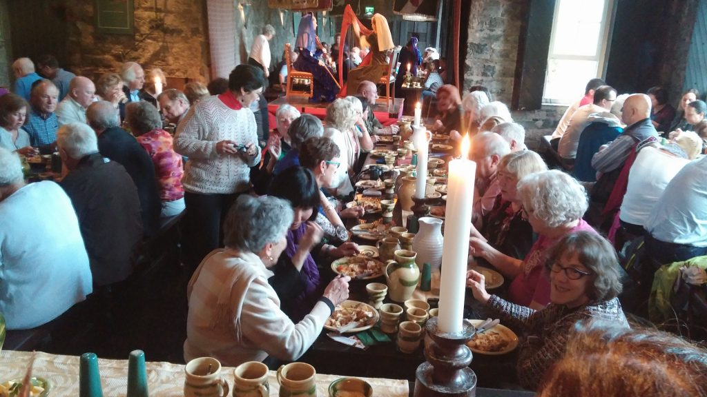 Several of our group at Medieval Dinner