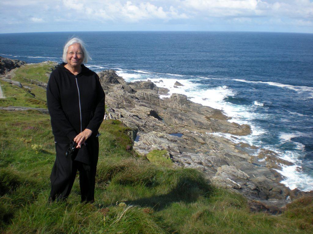 Jean Harrison at Malin Head