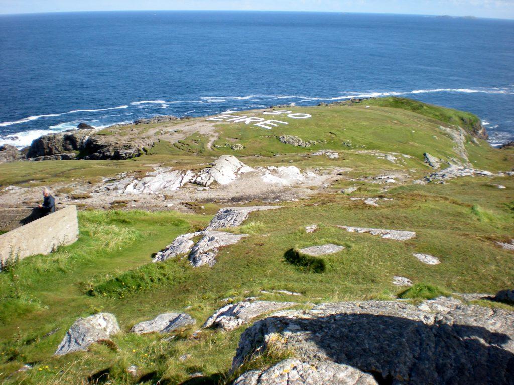 Malin Head, the white rock 80 EIRE by Atlantic Ocean