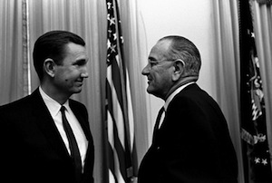 Attorney General Clark and President Lyndon B. Johnson in 1967.
