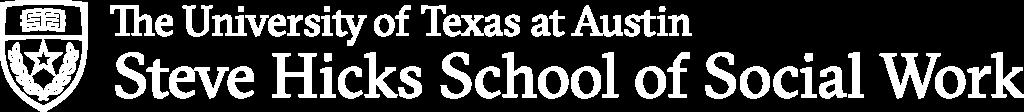 Steve Hicks School of Social Work logo, white