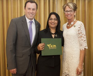 Photo of Hemlata Jhaveri (center) inducted as a Diamond Honoree at ACPA 2013