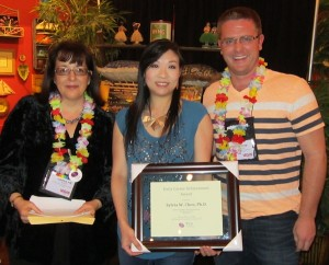 Photo as Sylvia Chen receives ACPA award