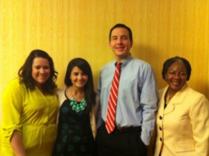 Photo of Jennifer Zamora, Cecilia Lopez, Nick Parras and Chrystal King at ACUI