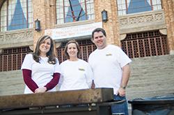 Pancakes for Parkinson's committee Allison Van Leeuwen, Rhonda Cox and Jon Hager