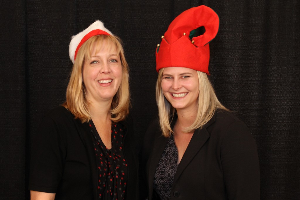 Jerri Kelly and Kristina Bachman at the holiday celebration