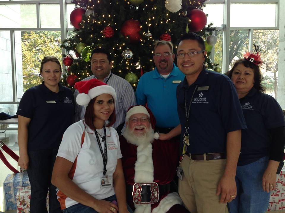 Santa sits down with the Student Activity Center staff