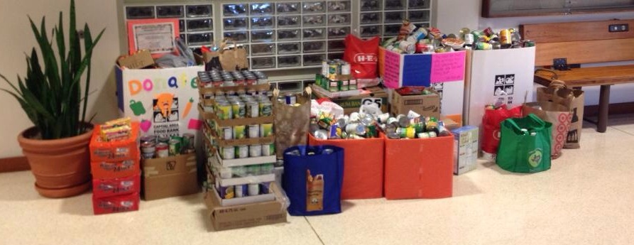 Sports Club's canned food drive