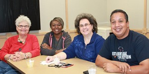 Mary Rhodes, Nancy Robinson, Tanya Betak & John Valdez at the UHS staff development day