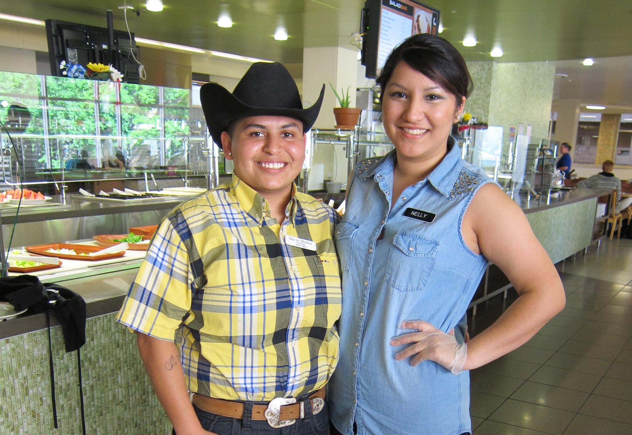 Maria Medina & Nelly Estrada at the Hill Country Dinner