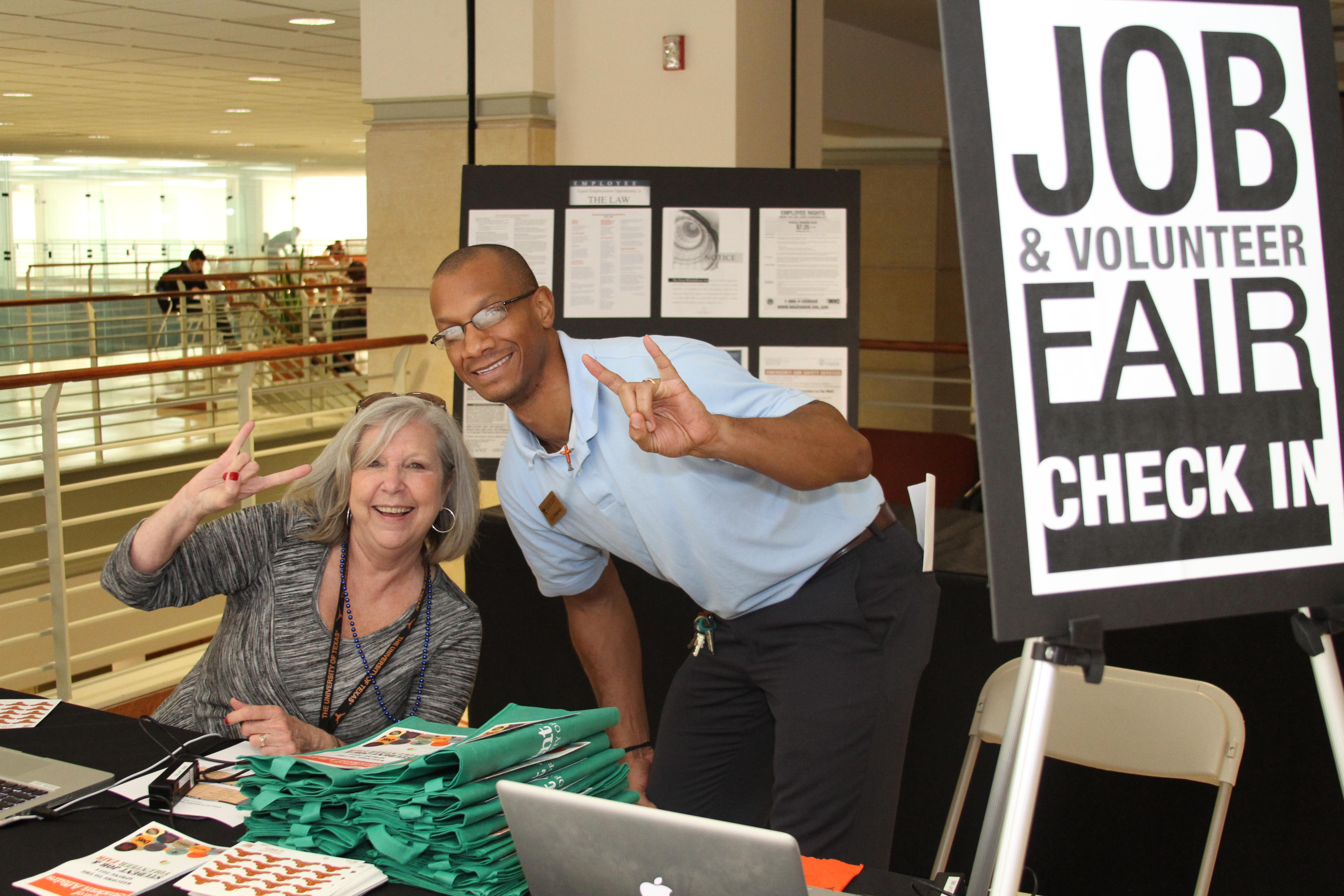 Mitzi Henry & EJ Patterson at the Student Job & Volunteer Fair