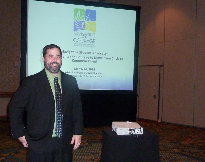 David Chambers presenting at NASPA