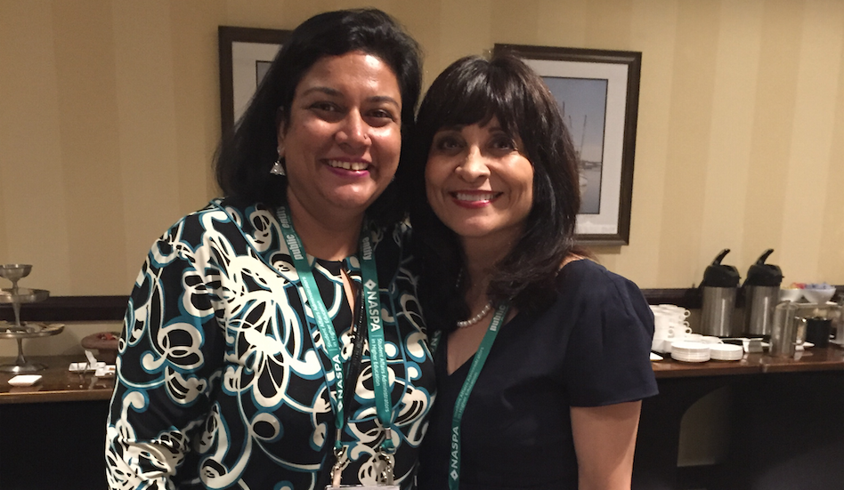 Smita Ruzicka & Edna Dominguez at the Texas Tradition reception