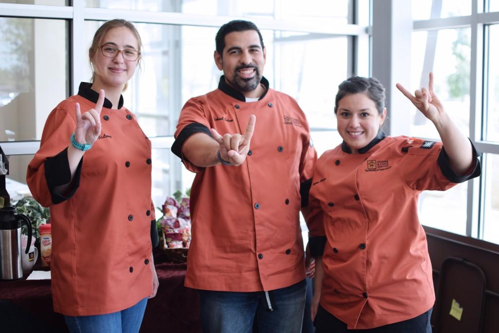 Chefs Tia McLeroy, Michael Colom & Dympna Roman
