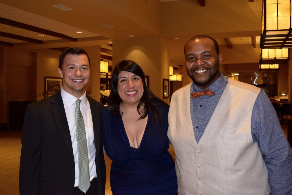Alex Kappus, Esmer Bedia, and Kyle Clark at the OA Banquet