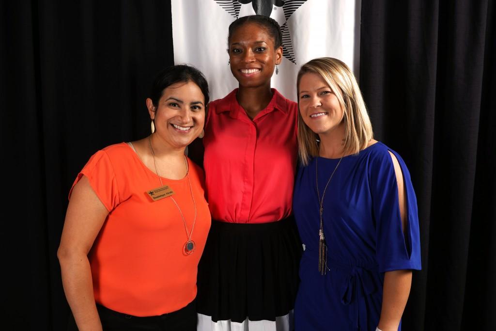 •Dominique Alcala, Chrystina Wyatt & Rachel Franks at the RecSports Scholarship Awards Ceremony.