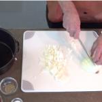 Robert Mayberry prepares LBJ's chili recipe.