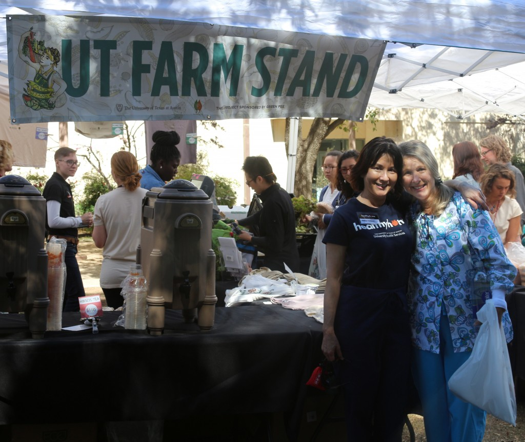 Staff members support UT Farm Stand
