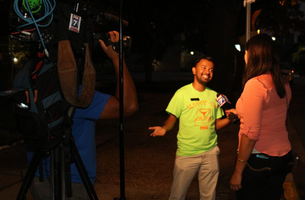 Justin Samuel speaks about Mooov-In on the FOX 7 morning show.