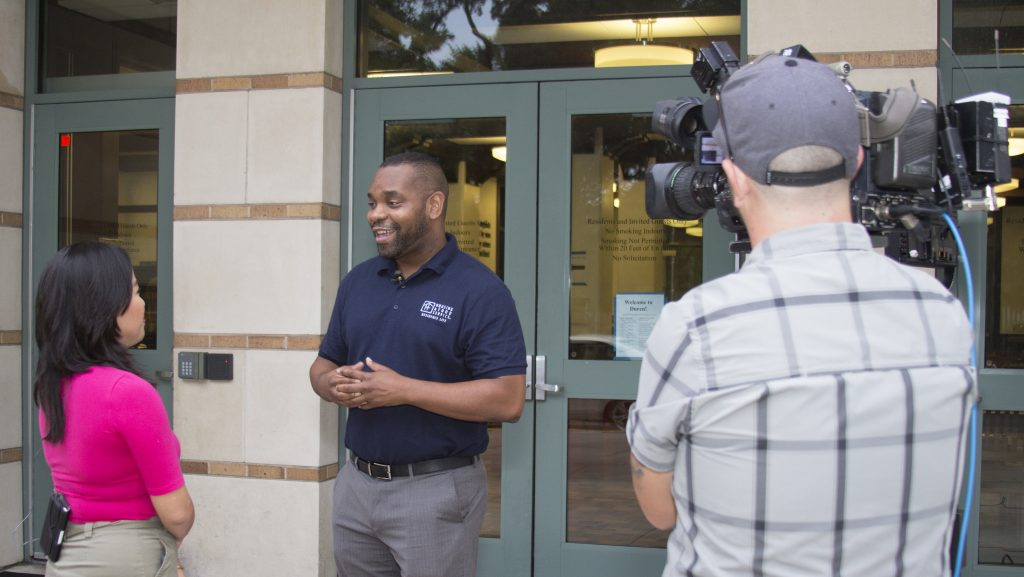Mylon Kirksy (Housing and Food Service) previews Mooov-In with Time Warner Cable News.