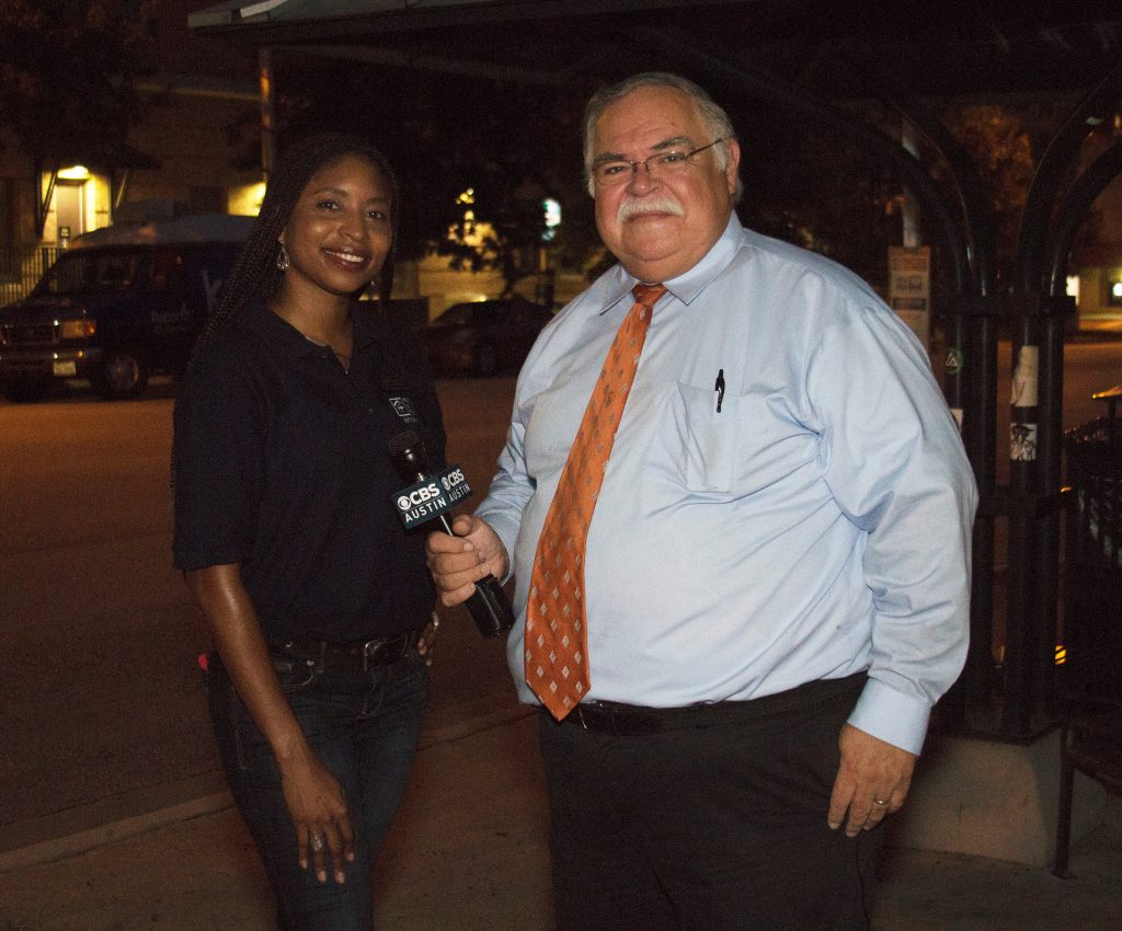 Shauna Sobers (Housing and Food Service) speaks to Fred Cantu from KEYE.