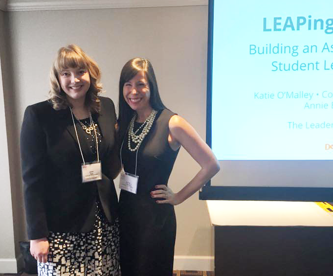 Annie Biggs and Katie O'Malley at NASPA's 2016 Leadership Educators Institute