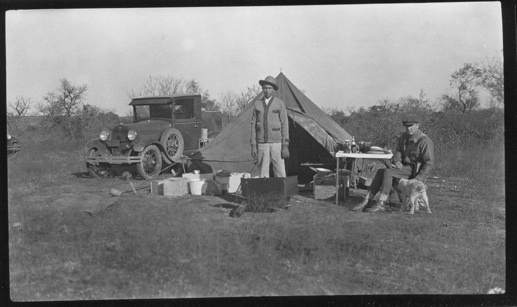 early archeology-E.B. sayles-camp near Santa Anna-1932