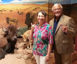 Dean Zayas and Anita Hunter (MSSW '80) at the Scurry County Museum in in Snyder