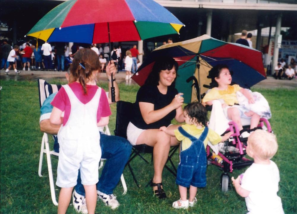 Koch, Caelan and siblings at the park