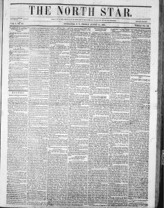 "Image of ""The Rights of Women"" column in the North Star on August 11, 1848"