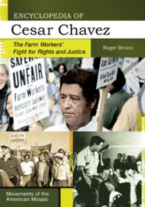 compilation of images showing Cesar Chavez present and taking part in activist marches