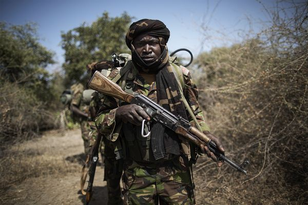 An anti-poaching team in Zakouma National Park, Chad. Photo by Marco Longari, AFP/Getty.