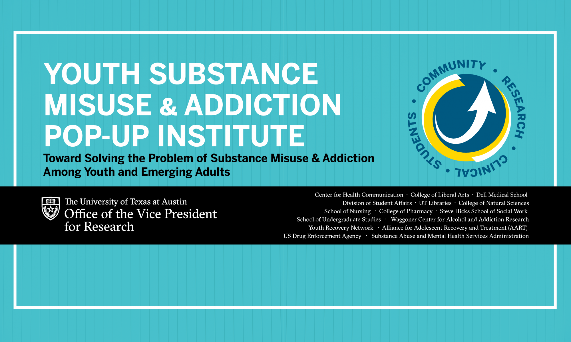 Youth Substance Misuse and Addiction Pop-Up Institute