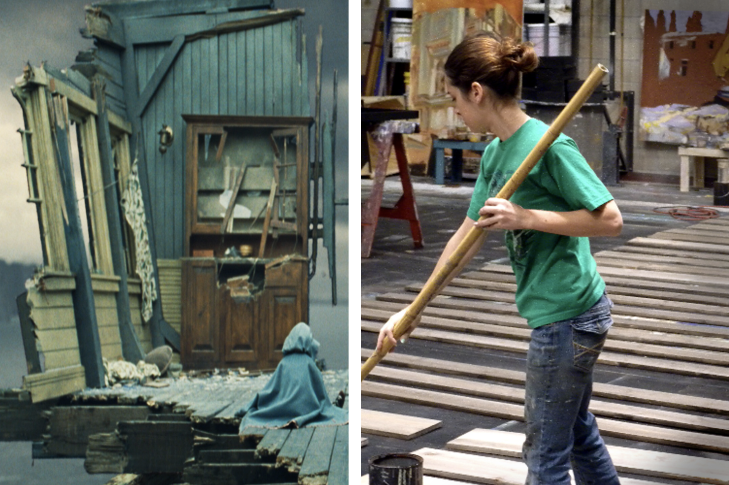 painter and scenery from series of unfortunate events